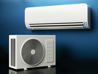 Air Conditioner System - dark background