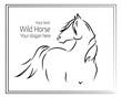 Hand drawn vector illustration of wild horse - 163585172