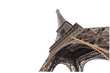 Eiffel tower isolated on white background in Paris, picture for the ideas of designers