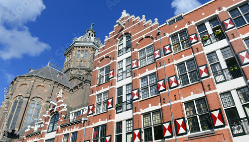 Vintage architecture in Amsterdam Holland