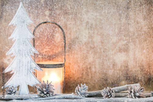 Christmas background in vintage style. Greeting card. - 163594539