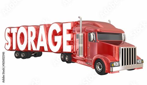 Storage Truck Hauler Container Storing Property Transportation 3d Illustration