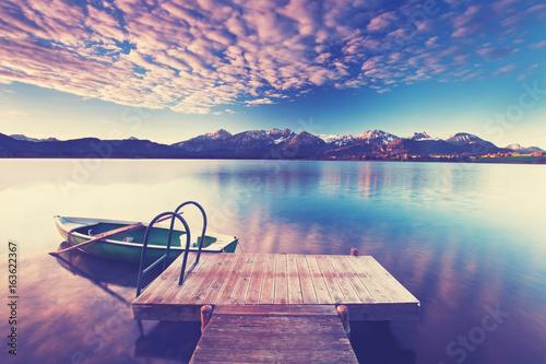 Poster Einsamkeit am See