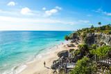 Wild Beach at Tulum - Riviera Maya in Mexico - 163624146