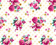 Seamless flower pattern, Flowers background - 163630706