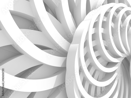 Abstract White Round Circles Pattern Background