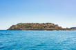 View from Plaka village to Spinalonga island, Crete, Greece