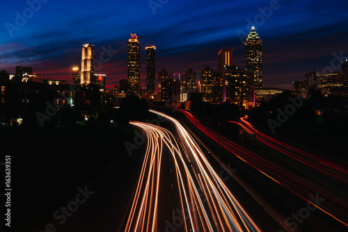 Foto op Aluminium Nacht snelweg JSB