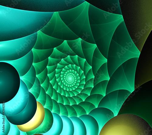 fractal emerald shell