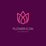 Abstract linear tulip logo
