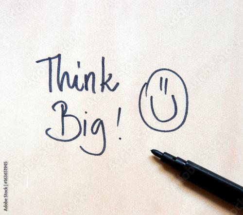 motivational message think big
