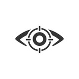Biometric Eye Scan Icon
