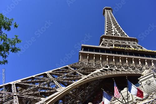 Las Vegas, Nevada - USA - June 05,2017 - View of the Eiffel Tower