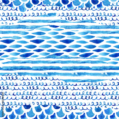 Cotton fabric Watercolor textured seamless pattern.