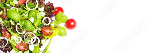 Foto op Aluminium Verse groenten Bunter, gemischter Salat
