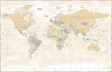 Vintage World Map - Vector Illustration - 163697783