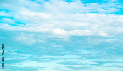 Beautiful blue sky with lots of clouds