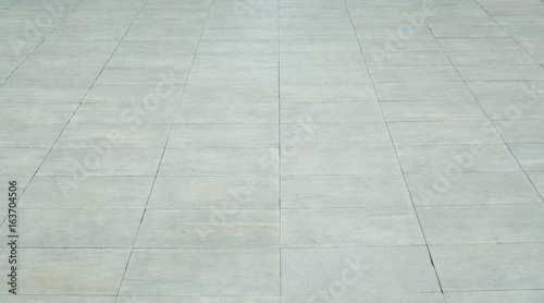 Bright and rectangular pavement tiles