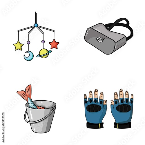 technology, fishing and other web icon in cartoon style.sport, child icons in set collection.