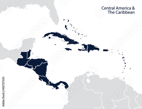 Central America and the Caribbean map | Buy Photos | AP Images ...
