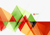 Triangular low poly vector a4 size geometric abstract template - 163730786