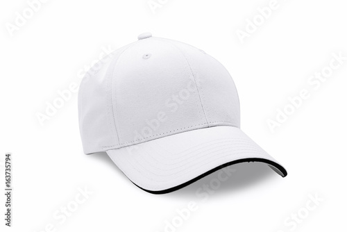 Cap isolated on white background. Baseball cap. Poster