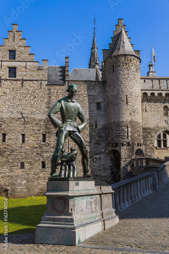 Steen castle in Antwerp Belgium