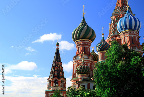Russia, Moscow, St. Basil's Cathedral on red square Poster