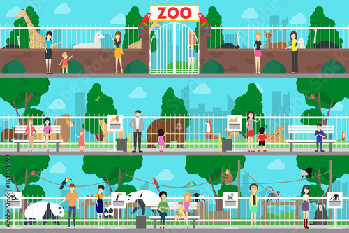 Fotobehang Zoo Zoo interior set.