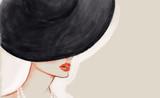 Woman in hat. Fashion illustration - 163753937