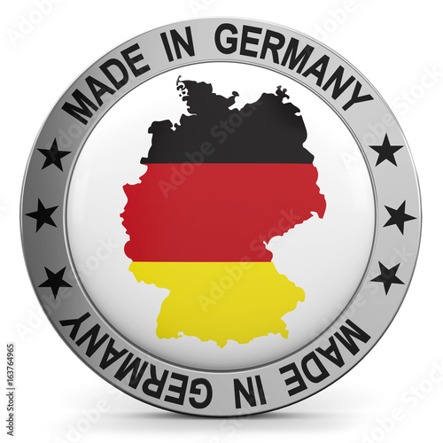 Made in Germany Button mit Karte - 163764965