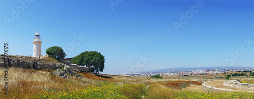 Panorama of Archeological park in Paphos