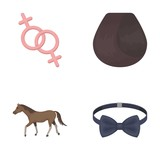Medicine Animal Holiday And Other Web Icon In Cartoon Style Accessories Clothing Textiles Icons In Set  Wall Sticker