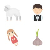 business, ecology, profession and other web icon in cartoon style. leaves, vegetable, seasoning, icons in set collection. - 163779554