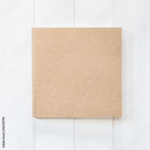 Blank book mock up square-size catalog magazines, brochure or note cover templat Poster