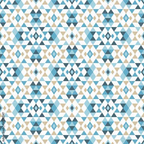 Ethnic boho seamless pattern. Tribal art print, repeatable background. Retro motif. Vector illustration. Textile rapport. - 163782147