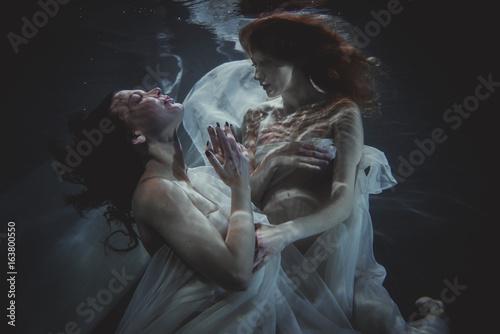 Women underwater