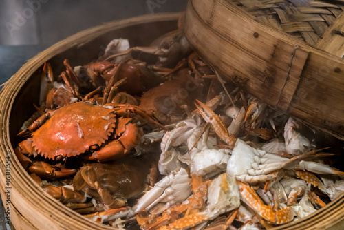 Foto op Canvas Shanghai steam crab