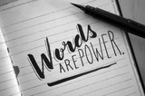 WORDS ARE POWER hand-lettered quotation - 163813710