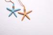 Starfish on textured  background.