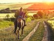 Woman ride horse