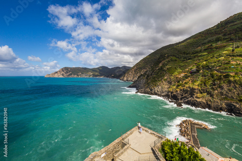 Vernazza, one of the famous Five Lands in Liguria, Italy