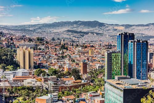 Bogota Skyline cityscape in Bogota capital city of Colombia South America - 163821321