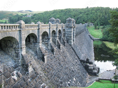 Lake Vyrnwy dam Powys Wales