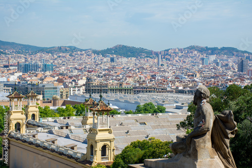 the view from Montjuic over Barcelona