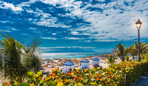 Foto op Plexiglas Cyprus El Duque beach at Costa Adeje. Tenerife, Canary Islands, Spain
