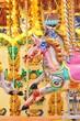 carousel horse merry-go-round horse ride funfair- Stock Photo