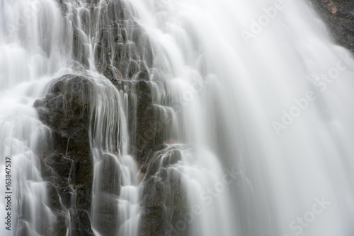 Abstract Waterfall closeup long exposure