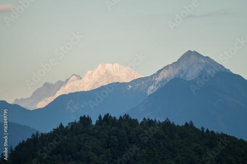 beautiful mountain landscape sunset