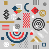 Trendy seamless geometric pattern,  vector illustration